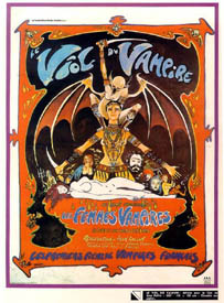 The 1968 poster for the film (drawn by Phillipe Druillet) implies it is a double feature.