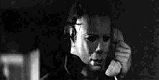 Halloween: A connection is made. Myers picks up the receiver