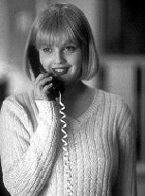 Scream: Casey answers the phone in the lounge room