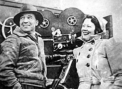 Charles and Elsa Chauvel on location for Forty Thousand Horsemen