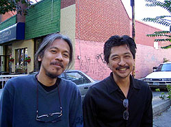 Lav Diaz (left) and Paul Tañedo