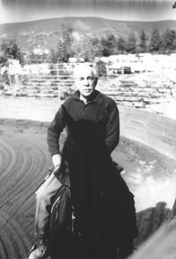 Budd Boetticher trains his horses in the art of rejonea, September 1992