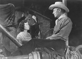 Randolph Scott and Gail Russell in Seven Men From Now