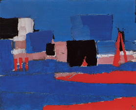 Lavandou Landscape, 1952, oil on canvas. Courtesy Galerie Daniel Malingue.