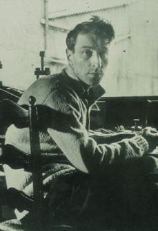 Nicolas de Staël in his studio, rue Gauguet, 1951. Photo © Serge Vandercam.
