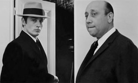 Alain Delon and Jean-Pierre Melville