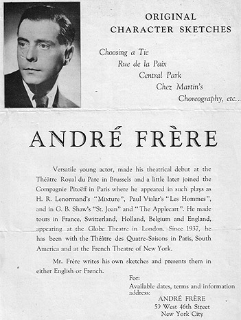 André Frère. © Henri Dominique Bonifas – Private Collection.