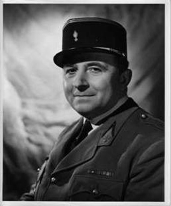 Paul Bonifas in his lieutenant's uniform from the Free French Forces appearing at the beginning of Aventure Malgache. © Henri Dominique Bonifas – Private Collection.