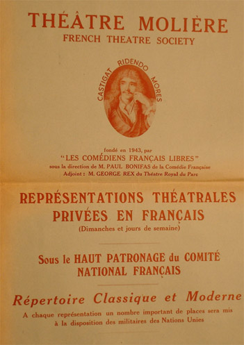 1943 Théâtre Molière poster. © Henri Dominique Bonifas – Private Collection.