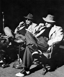 David Dodge (Ward Bond) and John Ford on the set of The Wings of Eagles