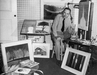 King Vidor in his studio
