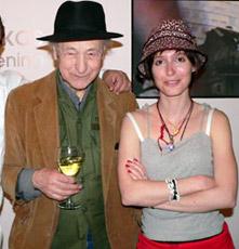 Jonas Mekas and Virginie Marchand