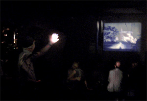 Dirk de Bruyn performing his two-screen work Experiments at the OtherFilm Festival in 2007