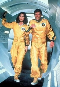 Holly Goodhead (Lois Chiles) and James Bond (Roger Moore) in Moonraker