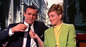 James Bond (Sean Connery) and Tatiana Romanova (Daniela Bianchi) in From Russia, With Love