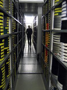 Cinémathèque archive storage vaults