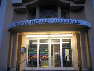 Entrance to Cinémathèque Municipale theatre