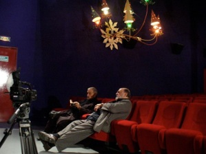 Jean-Claude Carrière and Juan Luis Buñuel in Studio 28 - Photo courtesy of Juan Luis Buñuel