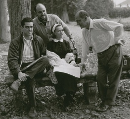 Juan Luis Buñuel, with brother, father and Jeanne Moreau - Photo courtesy of Bjoern Eichstaedt