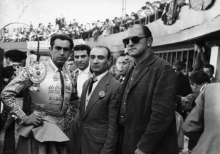 Juan Luis Buñuel with a group of matadors - Photo courtesy of Bjoern Eichstaedt