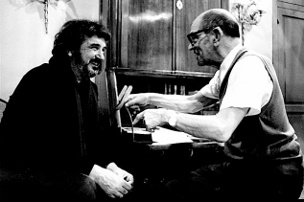 Jean-Claude Carrière and Luis Buñuel - Photo courtesy of Juan Luis Buñuel