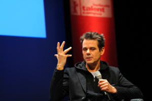 Tom Tykwer at HAU1. Photo: Peter Himsel