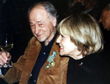 Jonas Mekas with Jeanne Moreau