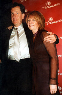 Geoffrey Rush and Jan Chapman at the 2001 AFI Awards