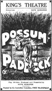 Possum Paddock poster