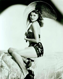 Rita Hayworth, pinup and erotic icon