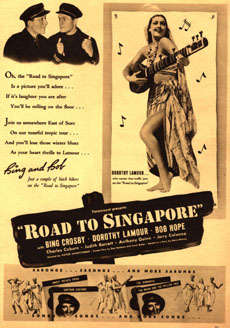 Magazine ad for Road to Singapore