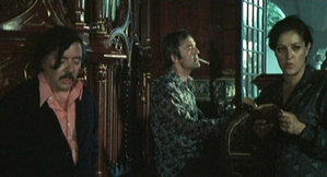 Jess Franco (left) and Howard Vernon (centre) in Virgin Among the Living Dead