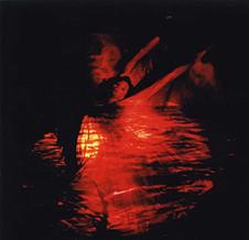 "Jody Sperling in her ""Magic-Lantern Dance"". Photo by Julie Lemberger (http://www.timelapsedance.com/)"
