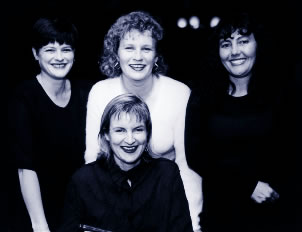 "Gillian Armstrong (center bottom) with ""cast"" of Not Fourteen Again"