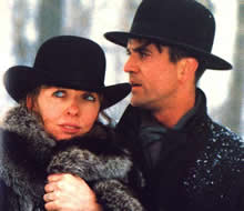 Mrs Soffel (Dianne Keaton) and Ed (Mel Gibson)