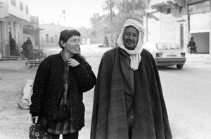 Leslie Thornton and Abderahman Helal, Tolga, Algeria, 1991 (photo: S.Slyomovics)