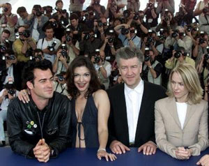 David Lynch with Mulholland Drive cast at Cannes