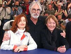 Isabelle Huppert, Michael Haneke & Annie Giradot