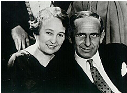 Louise Kolm-Fleck and Jakob Fleck, c. 1937