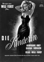 Poster from Die Sünderin
