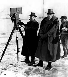 D.W. Griffith (right)
