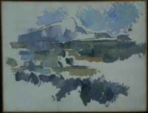 """Cézanne, """"Mont Sainte-Victoire from Les Lauves"""", 1904-06, Galerie Beyeler, Basel."""