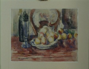 "Cézanne, ""Still Life with Apples, Bottle, and Back of Chair"", 1902-06, Courtauld Institute Galleries."