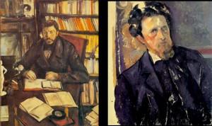 "(l) Cézanne, ""Gustave Geffroy"", 1895-96, Musée d'Orsay. (r) Cézanne, ""Joachim Gasquet"", 1896, Národní Galerie, Prague."