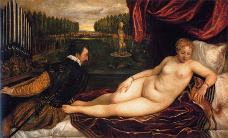 Venus with an Organ Player