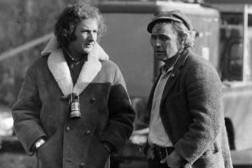 Michael Winner and Marlon Brando