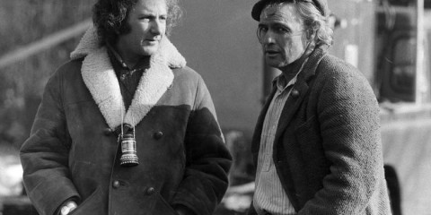 Michael Winner and Marlon Brando