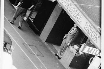 Author Frank Hardy, George Street, Sydney