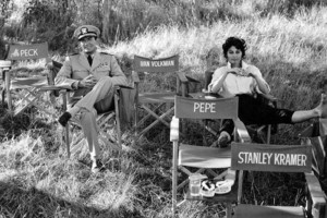 Gregory Peck and Ava Gardner on location