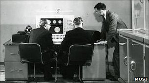 Christopher Strachey and Alan Turing working on the Love-Letter Generator